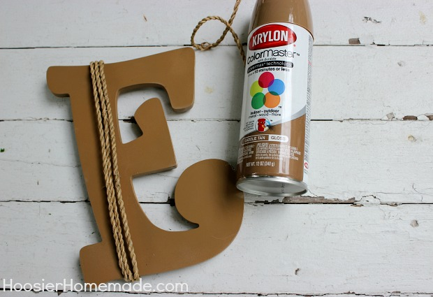 How to Cover Wooden Letters :: Instructions on HoosierHomemade.com