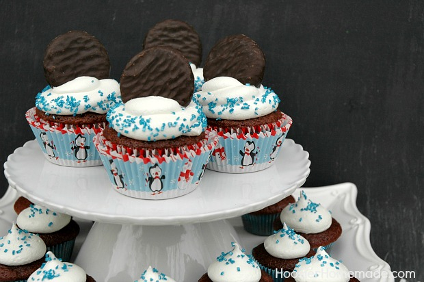 York Peppermint Pattie Cupcakes