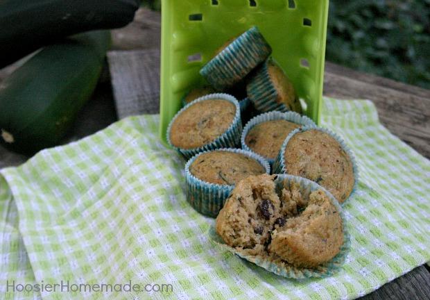 Zucchini Raisin Muffins :: Recipe on HoosierHomemade.com