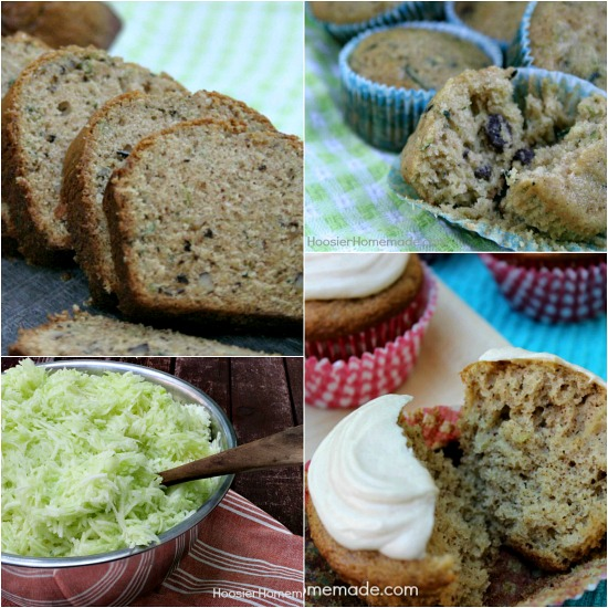 Zucchini Recipes: Bread, Muffins, Cupcakes and How to Freeze Zucchini | on HoosierHomemade.com