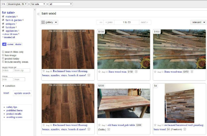 barn wood - post