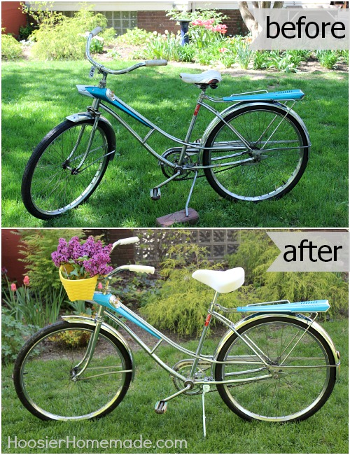 Vintage Bicycle Makeover :: HoosierHomemade.com