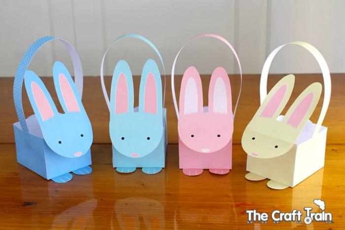 Printable Bunny Baskets