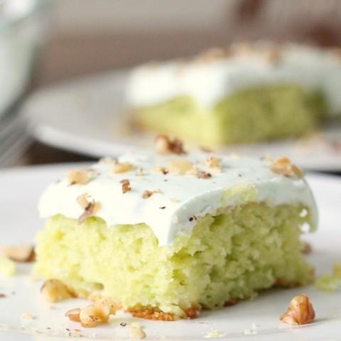 Pistachio Pineapple Cake