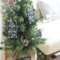 Chalkboard Christmas Ornaments : 100 Days of Homemade Holiday Inspiration on HoosierHomemade.com