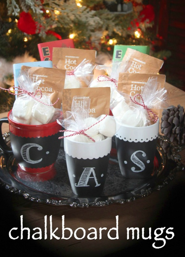 Chalkboard painted mugs homemade holiday inspiration hoosier homemade these mugs make a perfect homemade christmas gift teacher gift neighbors friends and solutioingenieria Choice Image