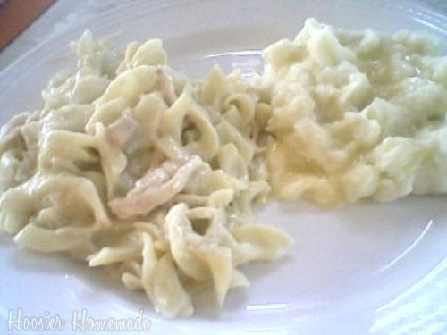 Homemade Chicken N' Noodles and our Menu Plan - Hoosier Homemade