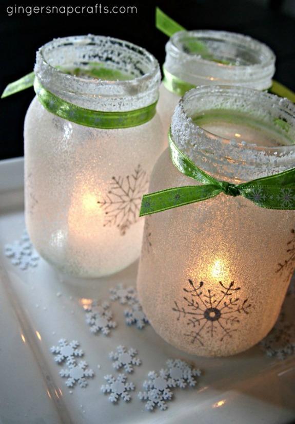 mason jar lights for the holidays 100 days of homemade holiday inspiration on hoosierhomemade - Mason Jar Christmas Lights