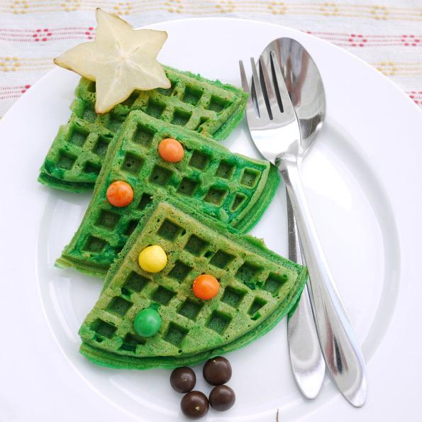 Christmas Waffles for Christmas Morning