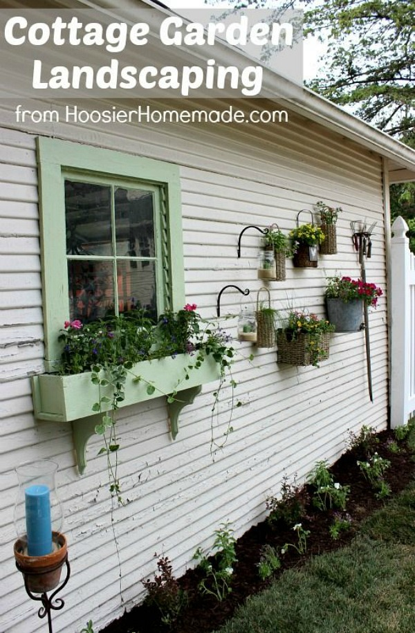 With just a few simple supplies you can turn a plain spot in your yard into a Cottage Garden! Pin to your Gardening Board!