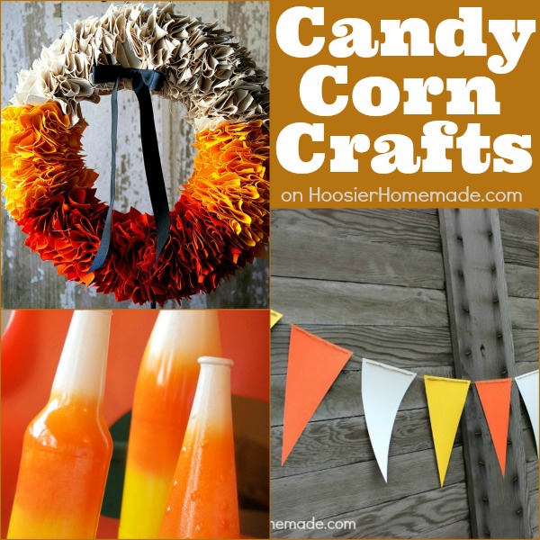 Candy Corn Crafts on HoosierHomemade.com