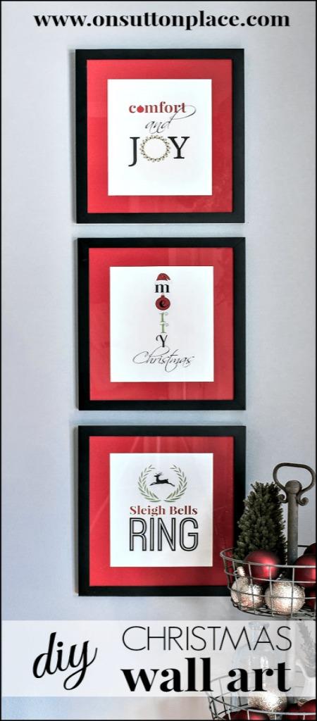 Free Christmas Wall Art | 100 Days of Homemade Holiday Inspiration on HoosierHomemade.com