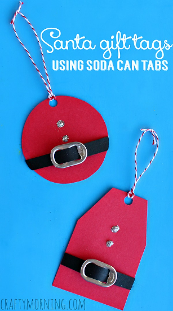 Diy Santa Gift Tags Holiday Inspiration Hoosier Homemade