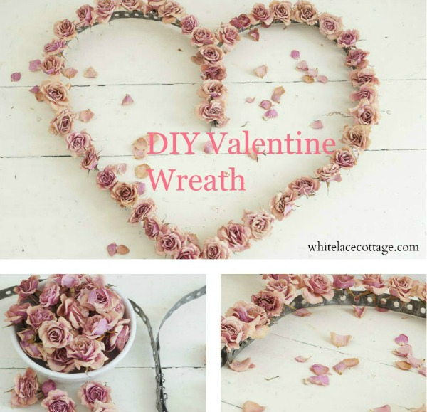Make this Valentine Wreath with simple supplies! Perfect to greet guests, decorate your home or give as a gift! Pin to your DIY Board!
