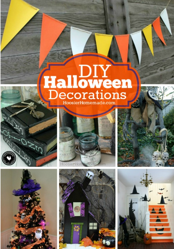 Create one of these EASY Halloween Decorations for your home, Halloween Party, office, classroom and more! Grab the kids! It's time to decorate for Halloween!