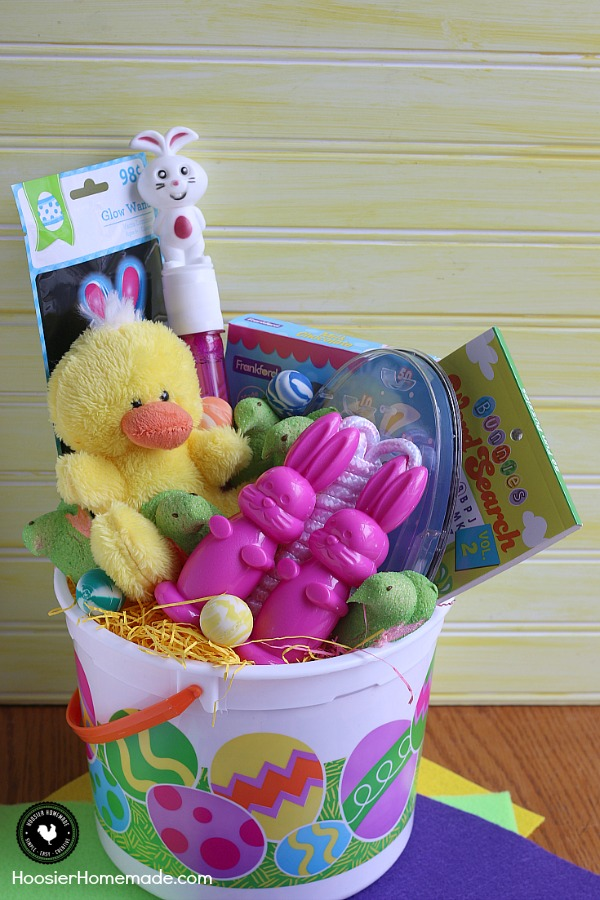 Put together these Easy Easter Baskets for Kids for under $10! Grab everything you need to fill an Easter basket and still stay on budget!