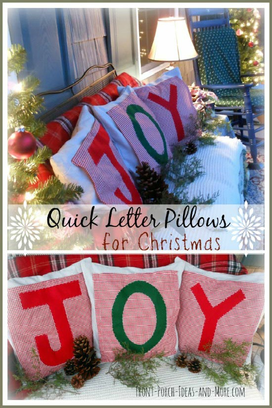 Make these beautiful Christmas Pillow Toppers with just a few supplies! Perfect for Christmas gift giving! Pin to your Christmas Board!