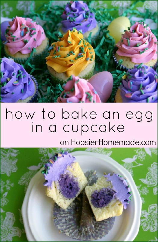 How to bake an Egg in a Cupcake :: Instructions on HoosierHomemade.com