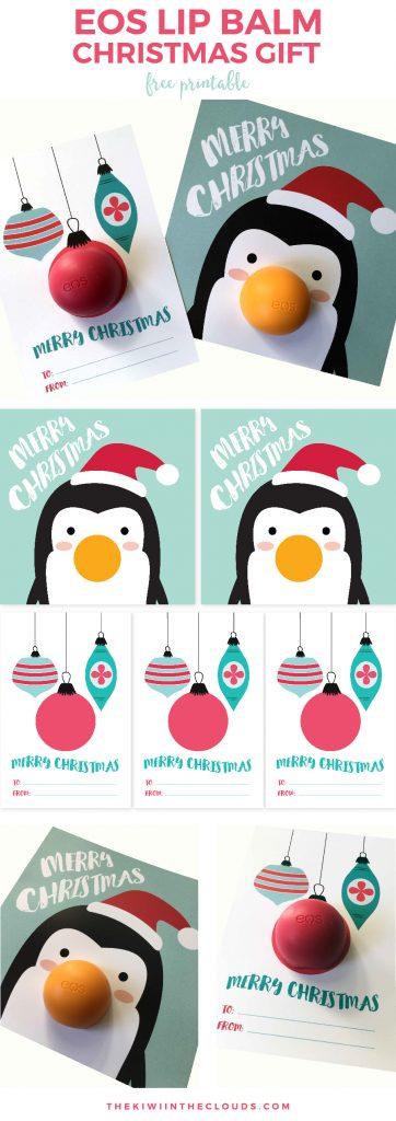 Lip Balm Christmas Gift Printable