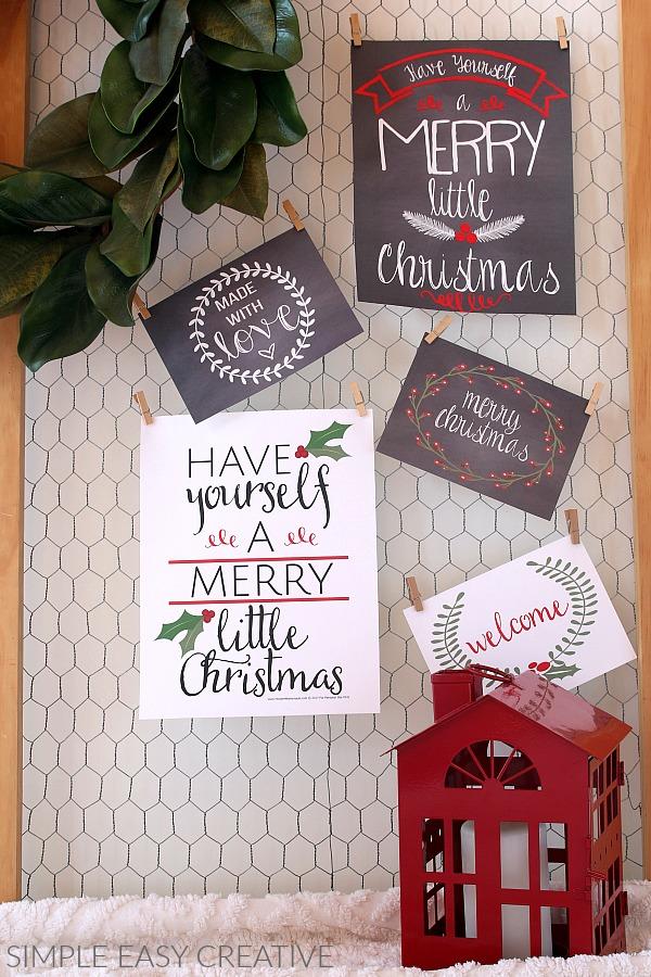 Farmhouse Decor Printables for Christmas
