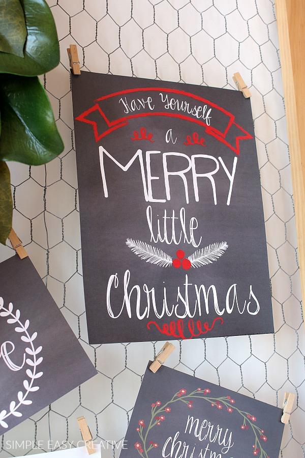Chalkboard Christmas Printable
