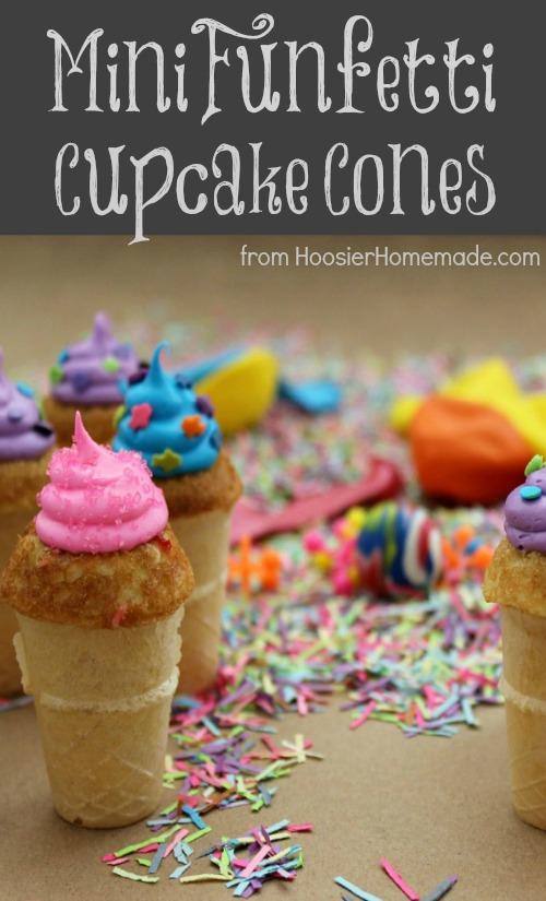 Mini Funfetti Birthday Cupcake Cones Giveaway Hoosier