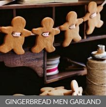 Gingerbread Men Garland