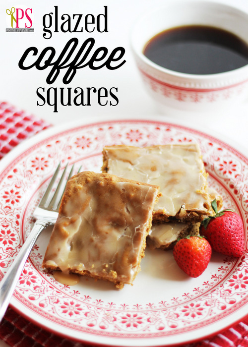 Glazed Coffee Squares :: Recipe on HoosierHomemade.com