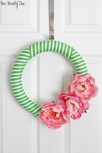 Preppy Spring Wreath