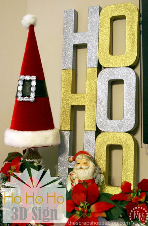 Make this adorable Christmas Decoration with simple supplies! Change the colors to fit your style! Visit our 100 Days of Homemade Holiday Inspiration for more recipes, decorating ideas, crafts, homemade gift ideas and much more!