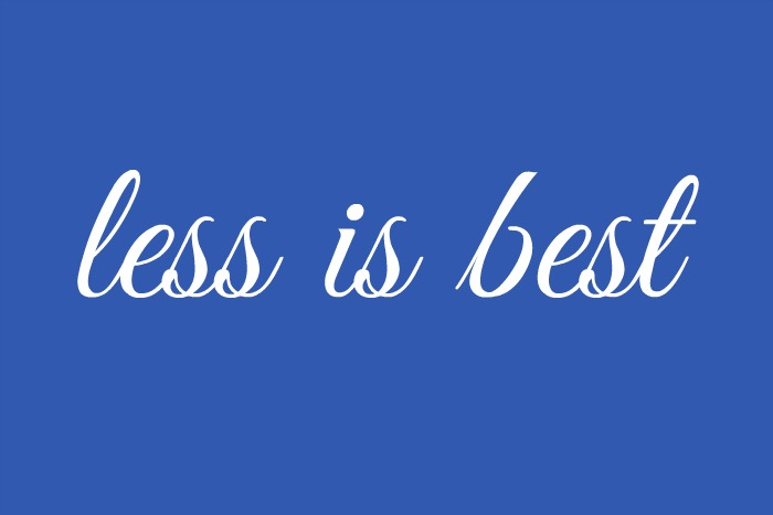 less-is-best
