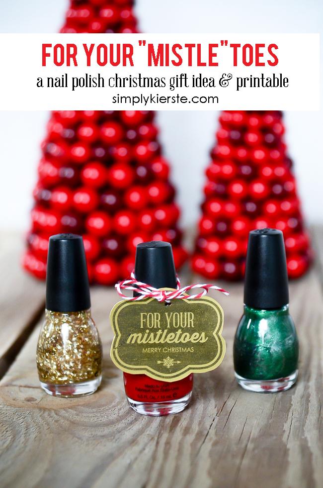 Mistletoe Nail Polish Gift Printable