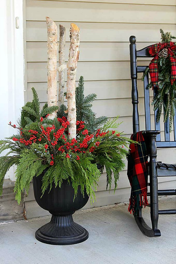Holiday Planter Holiday Inspiration Hoosier Homemade