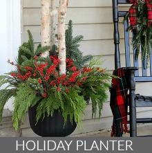 Outdoor Holiday Planter