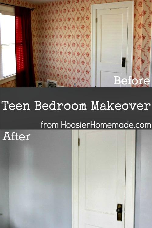 Teen Bedroom Makeover :: HoosierHomemade.com