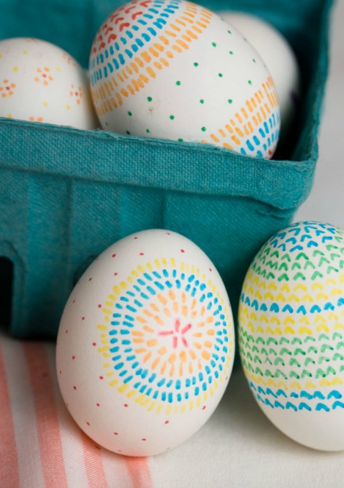Patterned Decorated Easter Eggs