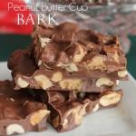 Reese's Peanut Butter Cup Bark : 100 Days of Homemade Holiday Inspiration on HoosierHomemade.com