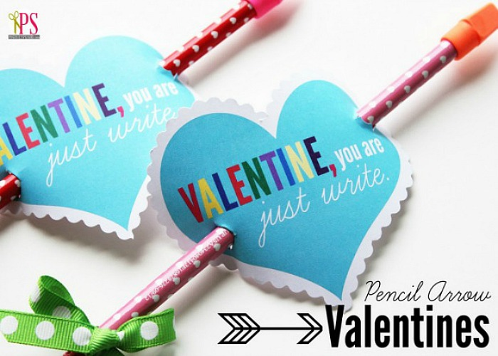 Pencil toppers for Valentine's Day