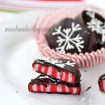 Candy Cane Peppermint Patties : 100 Days of Homemade Holiday Inspiration on HoosierHomemade.com