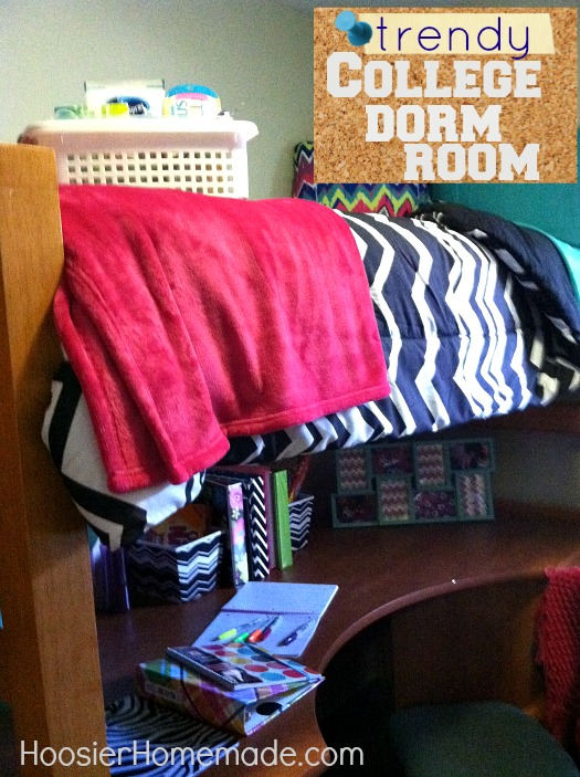 Decorating your College Dorm Room :: HoosierHomemade.com