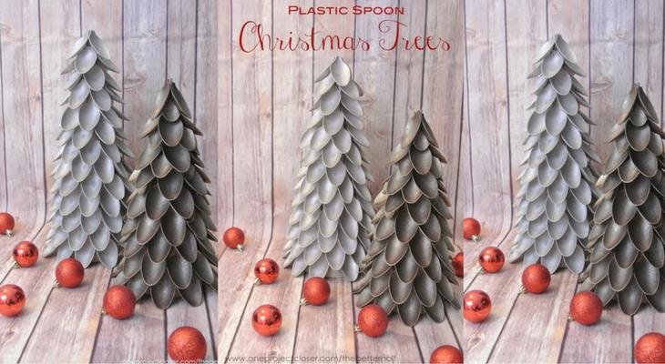 Plastic Spoon Christmas Tree 100 Days Of Homemade Holiday