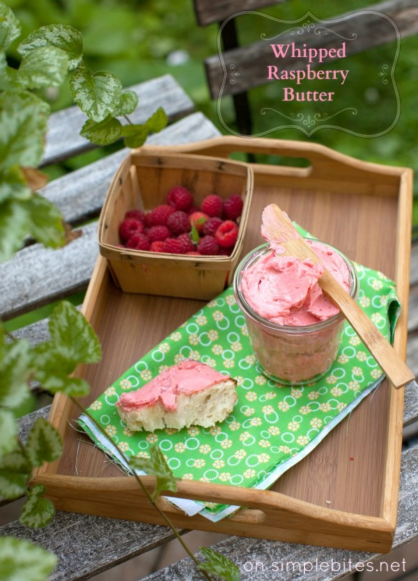Get the biscuits ready! With just 3 ingredients to can make this luscious Whipped Raspberry Honey Butter! Pin to your Recipe Board!