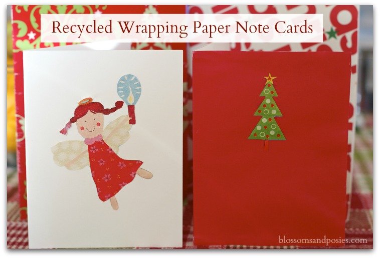 Recycled Wrapping Paper Note Cards