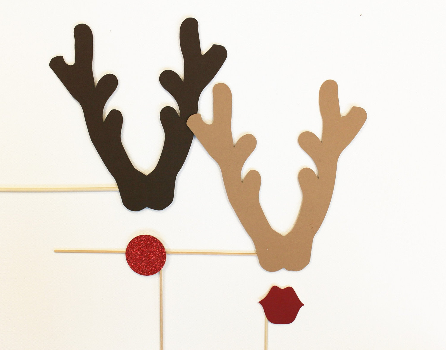 Reindeer Antlers Cut Out Trace antlers onto brown craft