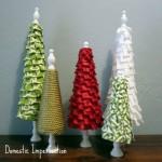 No Sew Ruffle Trees : 100 Days of Homemade Holiday Inspiration on HoosierHomemade.com