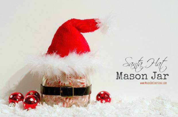 Santa Hat Mason Jar : 100 Days of Homemade Holiday Inspiration on HoosierHomemade.com