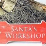 Distressed Santa's Workshop Sign