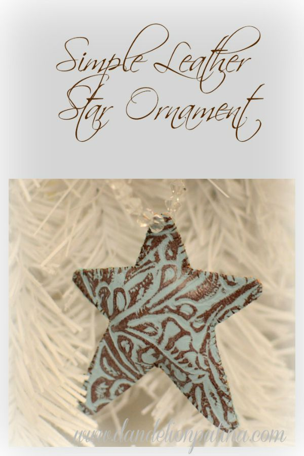 Decorate your Christmas tree or presents with these gorgeous, easy to make Leather Star Ornaments! Visit our 100 Days of Homemade Holiday Inspiration for more recipes, decorating ideas, crafts, homemade gift ideas and much more!
