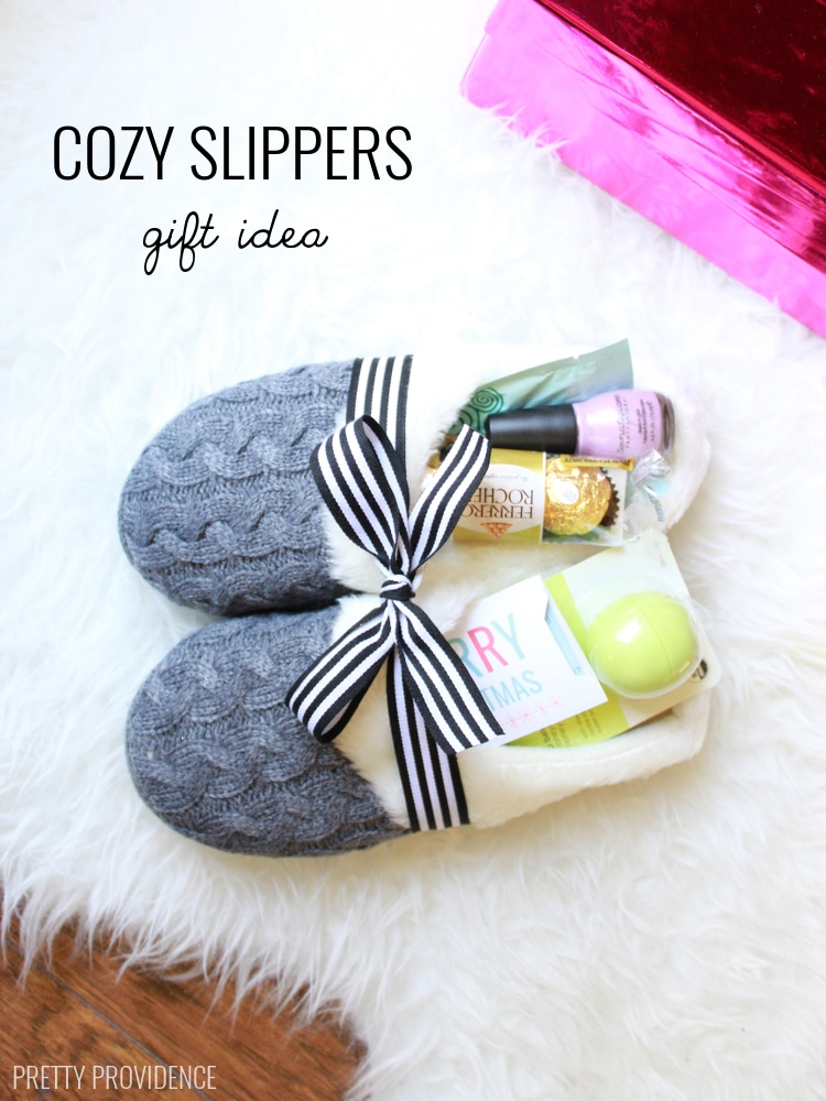Christmas Gift Sets Diy.Cozy Slippers Gift 100 Days Of Homemade Holiday Inspiration