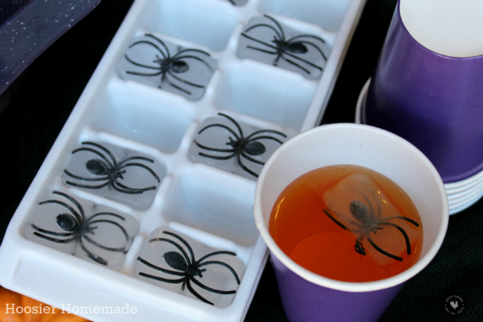 Spiders in Ice Cubes